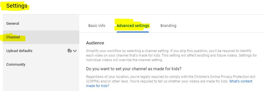 google analytics and youtube channel