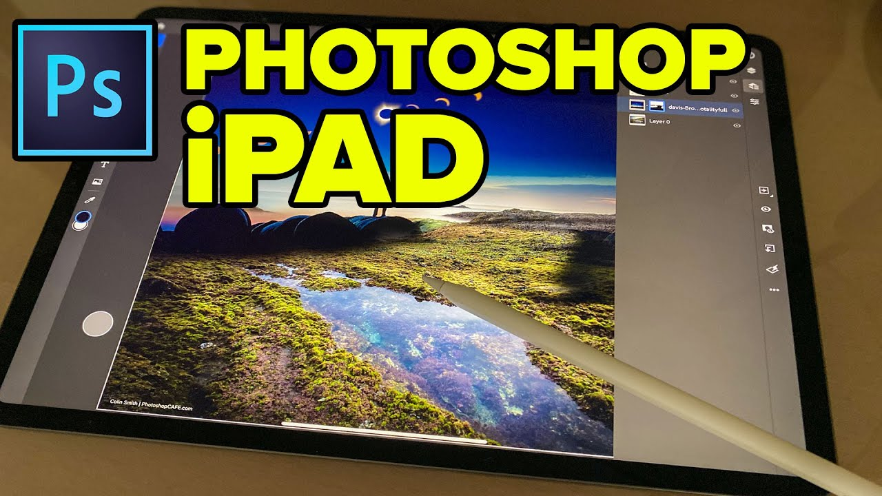 Photoshop on iPad feature tour + Compositing tutorial