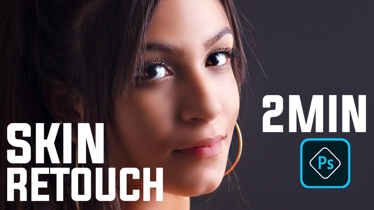Photoshop Tutorial : 2 Minute Skin Retouching in Photoshop in Bangla । Adobe Photoshop  CC 2020