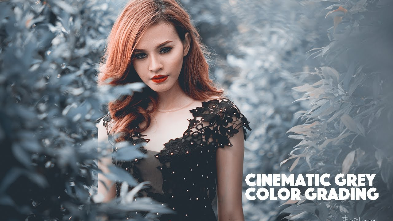 Cinematic Soft Grey Color Grading Photoshop Tutorial