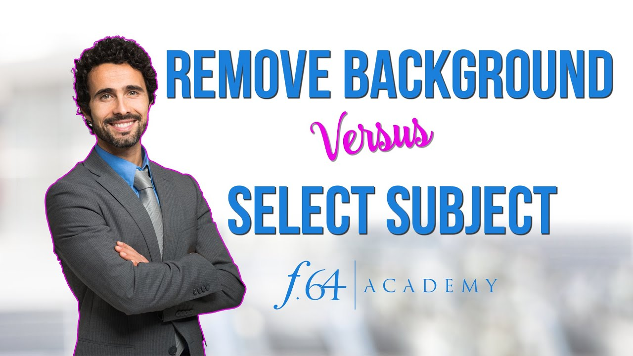 Remove Background VS Select Subject:  Photoshop 2020