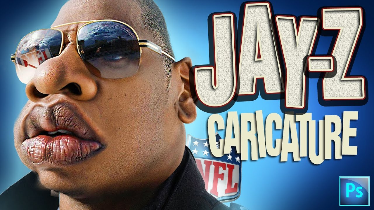 How To Create A Photo Caricature In Adobe Photoshop Jay Z