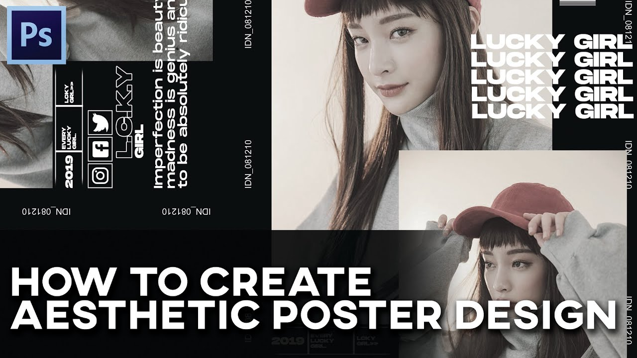 How To Create Aesthetic Poster Design || Photoshop Tutorial