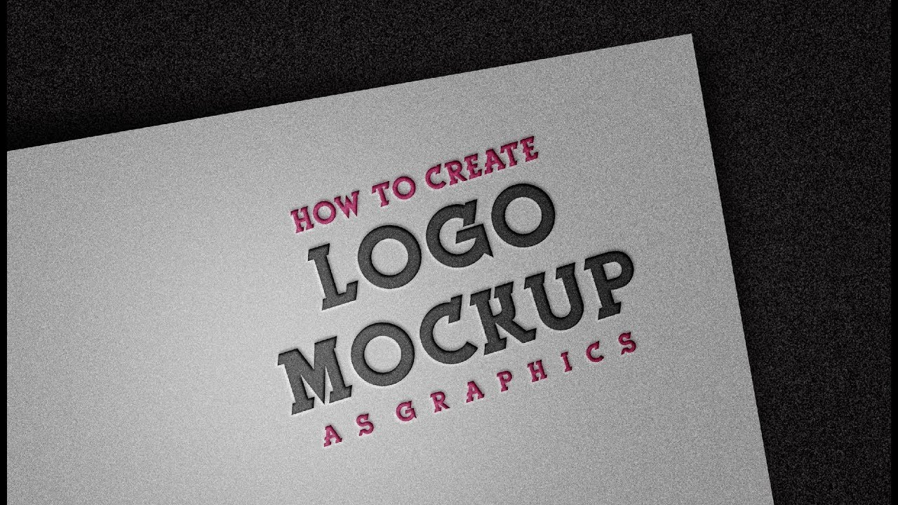 Mockup Tutorial - How To Make - Logo Design Mockup | In Adobe Photoshop cc 2018 Best Tutorial