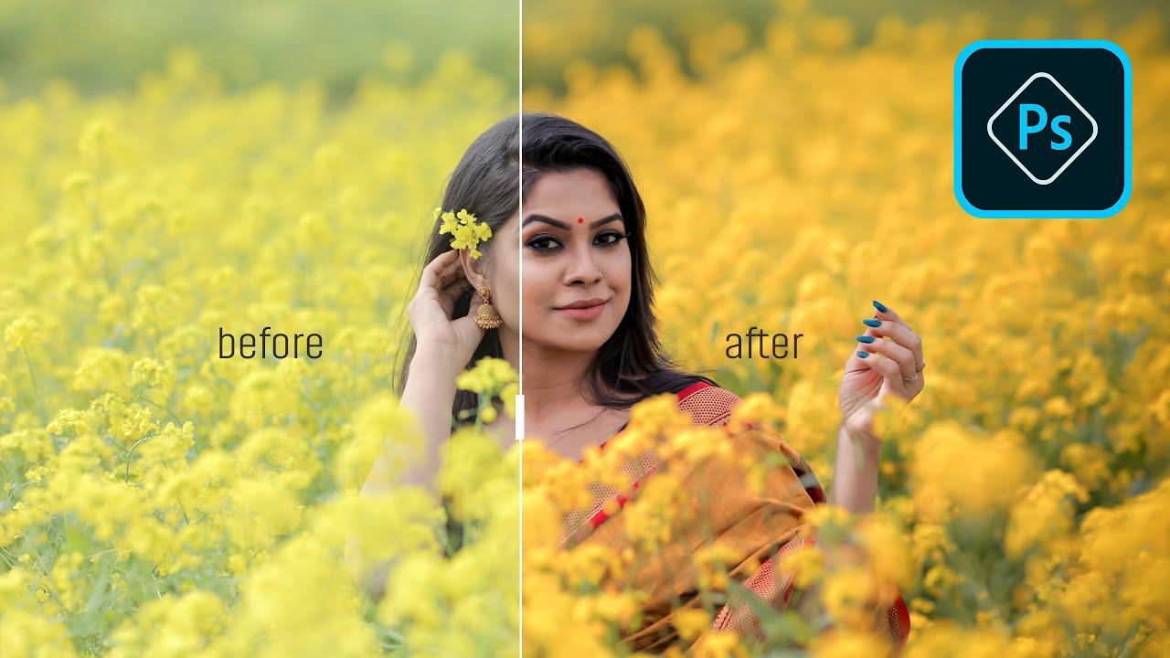 OUTDOOR PORTRAIT color enhance photoshop tutorial 2020