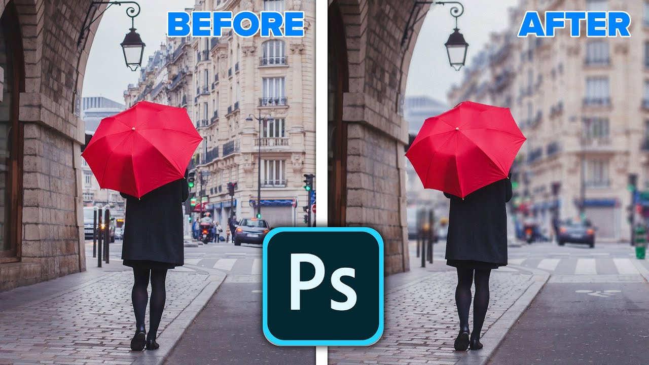 Realistic background blur in Photoshop 2020 New Features:Object Select, Lens Blur
