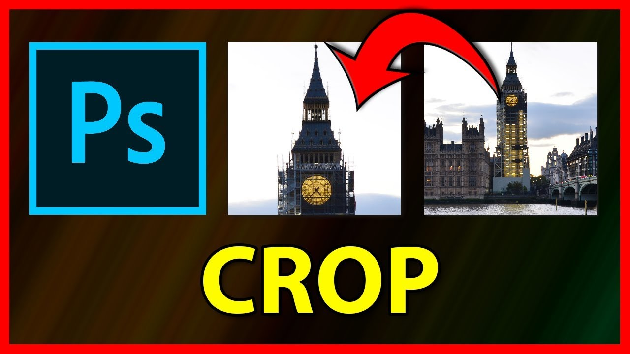 How to Crop / Cut an image in Adobe Photoshop CC 2019