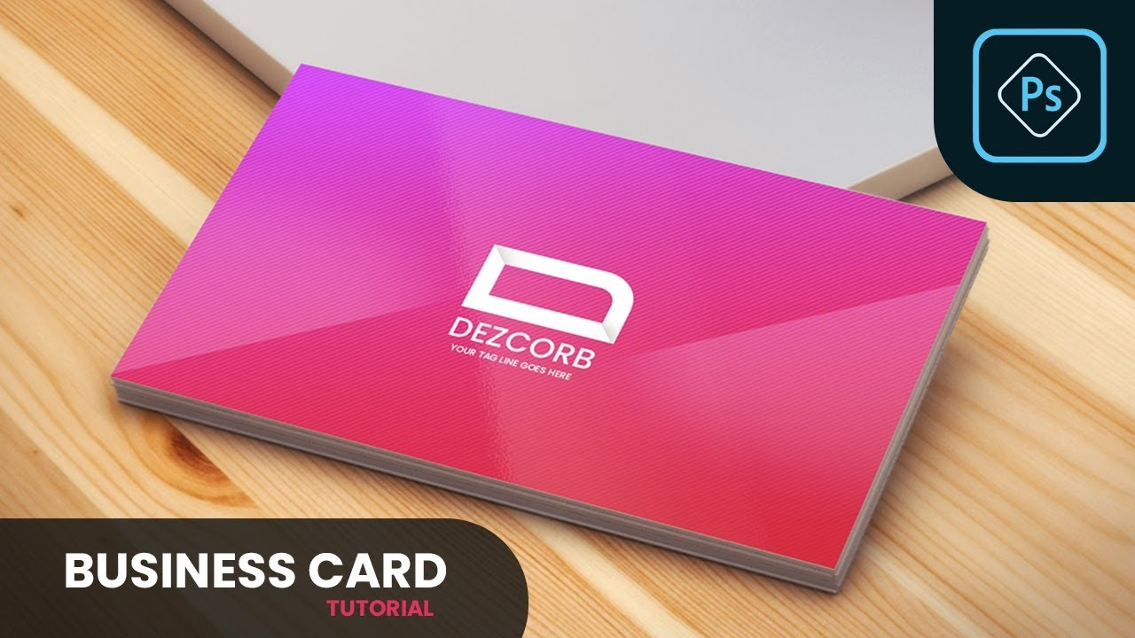 How to Design Business Card in Photoshop CC 2019 | Tutorial | Front Side