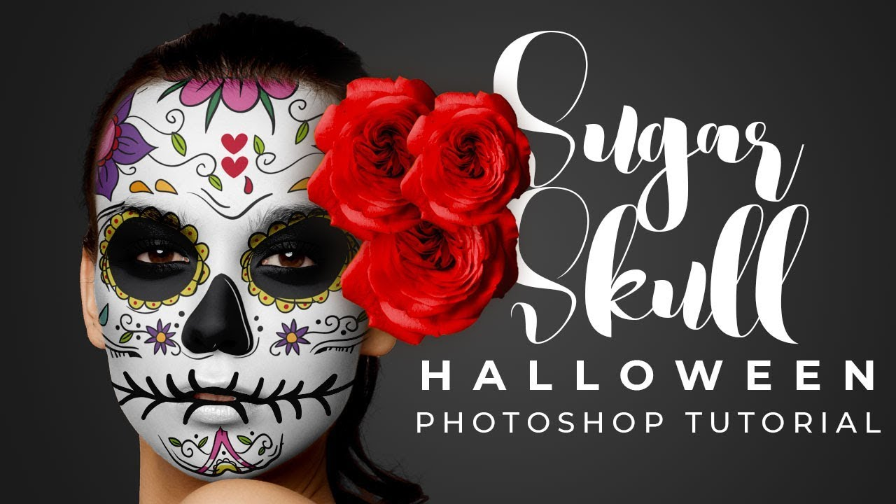 Halloween Photoshop Tutorial: Sugar Skull Face Paint