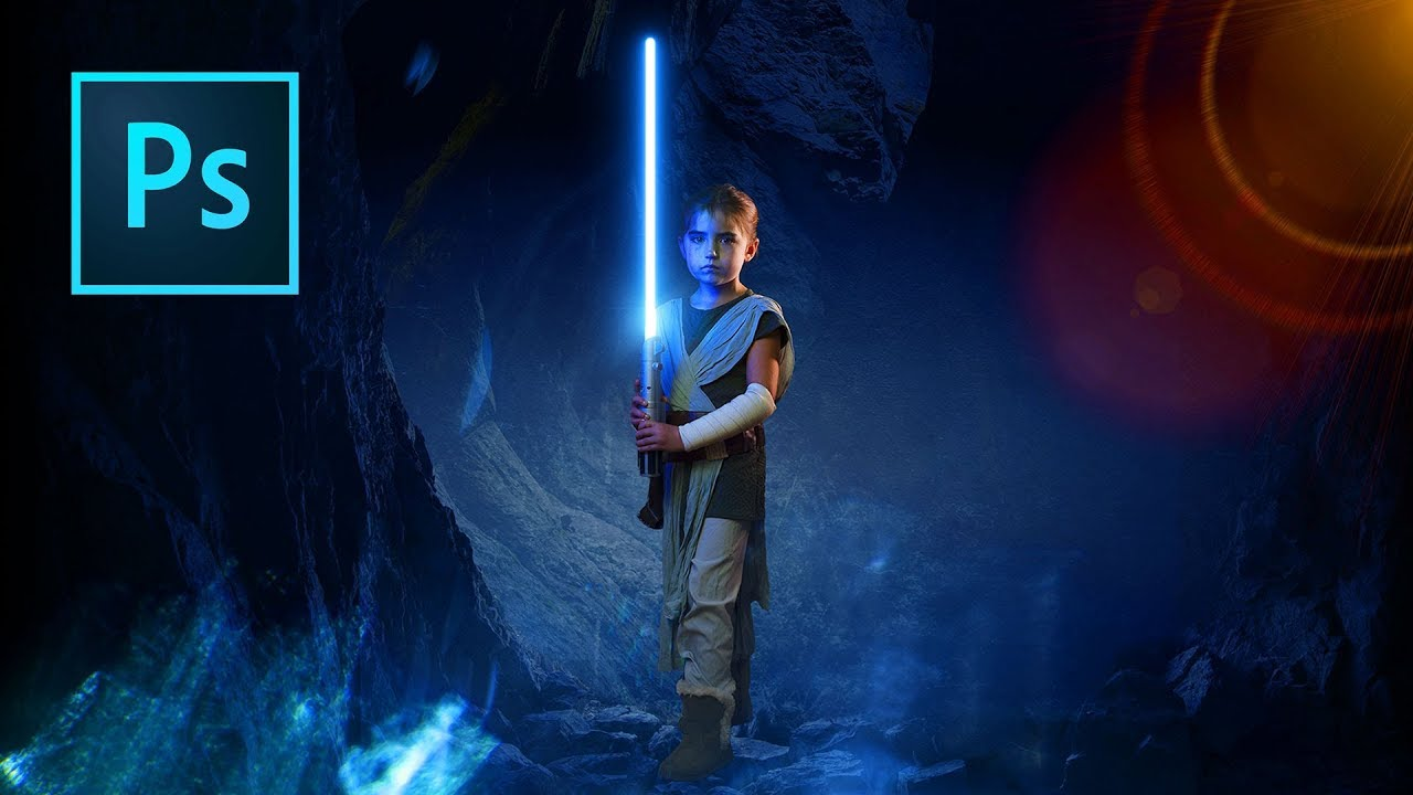 Lightsaber Effect in Photoshop Tutorial