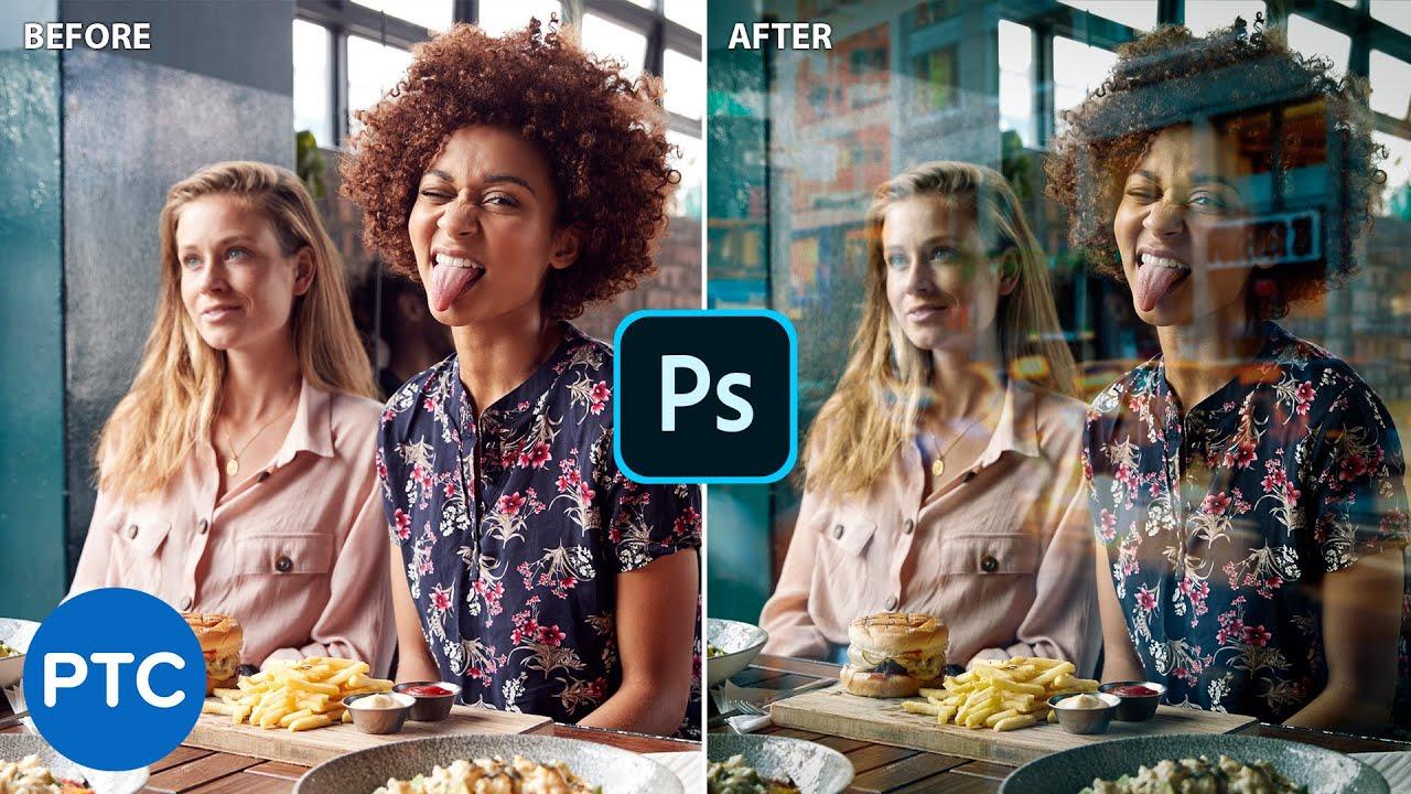 Realistic Glass Window Reflection Effect | Photoshop Tutorial