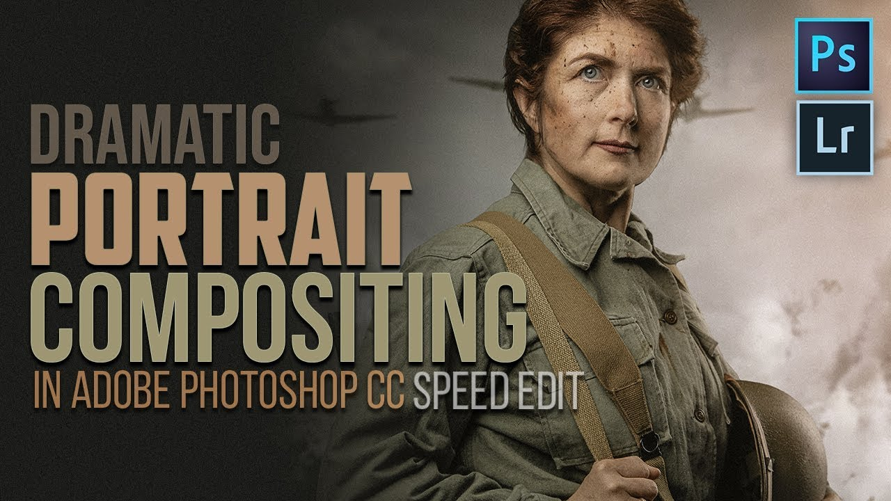 Dramatic Portrait Compositing in Adobe Photoshop CC (Speed Edit Tutorial)