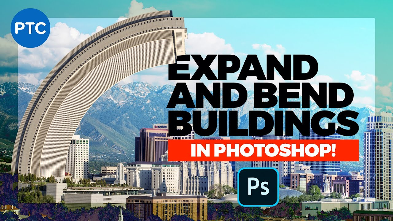 Expand and Bend Buildings In Photoshop! POWERFUL Photo Manipulation Techniques