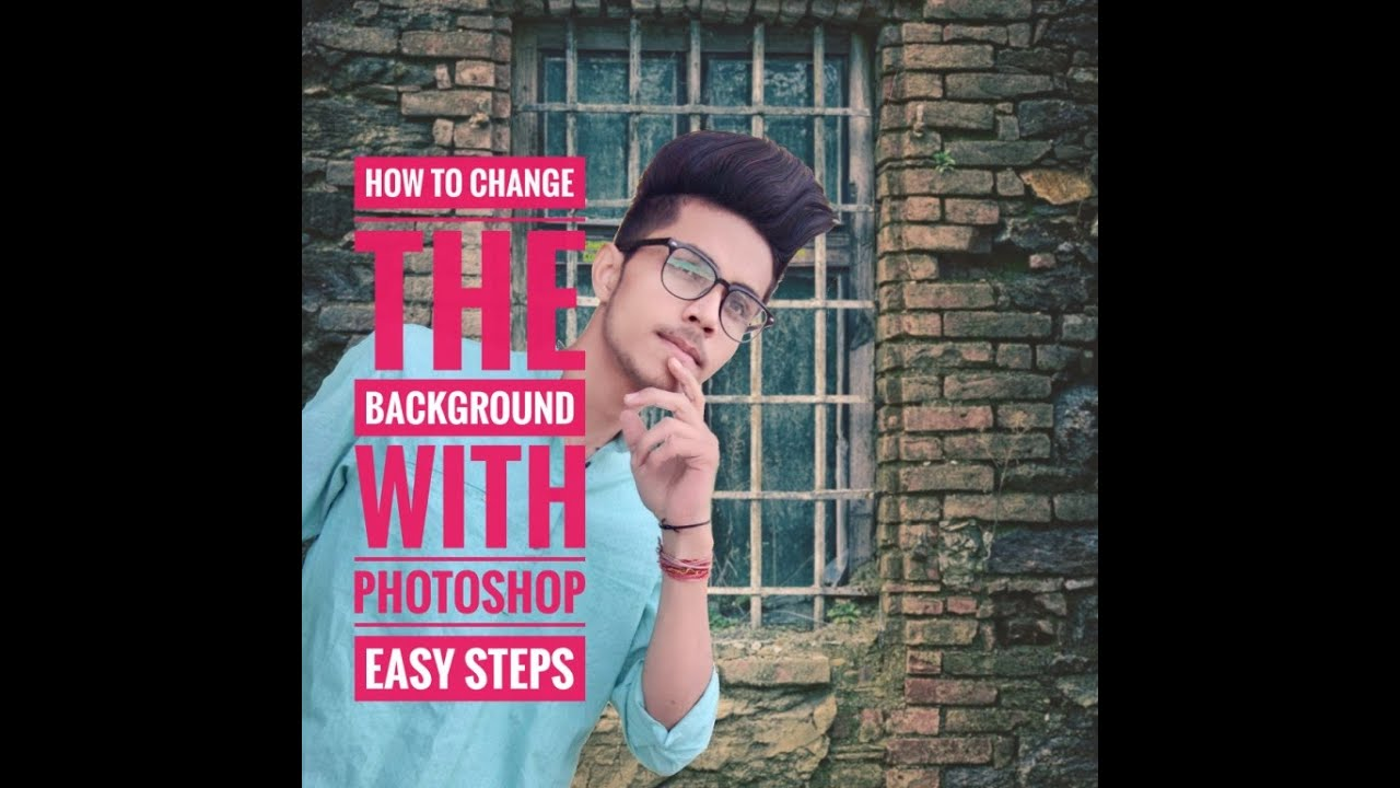 Adobe Photoshop 7.0 Tutorial || How To Change Background With Photoshop #Photoshop