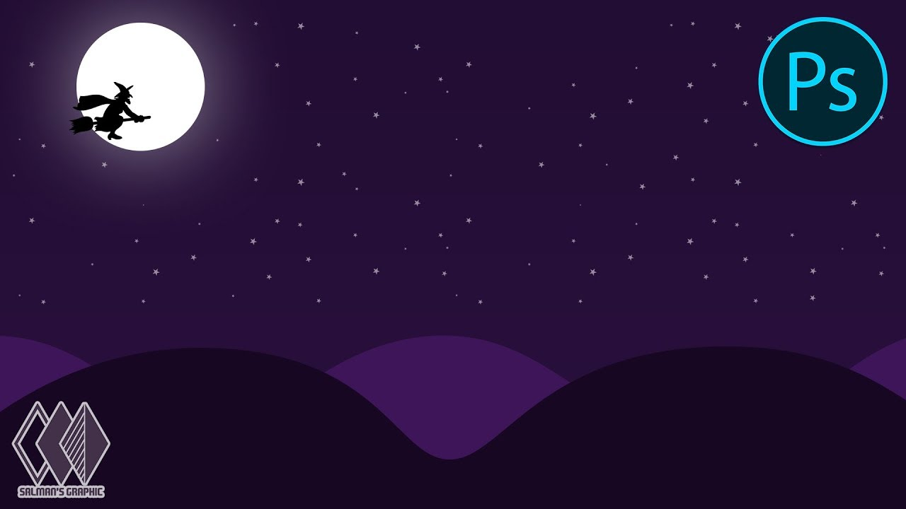 How To Make a Quick And Easy Night Landscape - Adobe Photoshop - Tutorial | Salman's Graphic