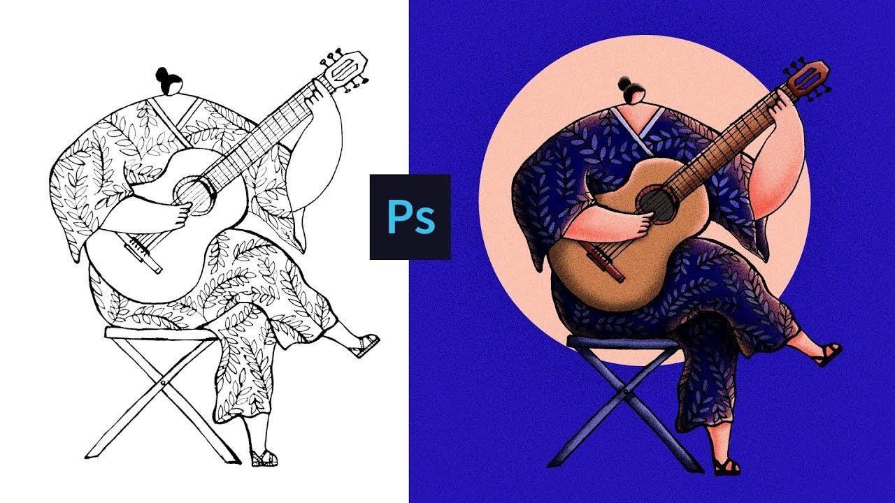 Character Illustration #4 - Noise Texture Illustration in Photoshop (Tutorial)