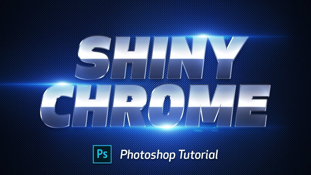 Shiny Chrome Text effect - Photoshop Tutorial