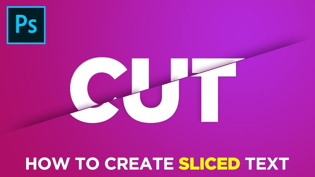 How to Create Sliced Text in Adobe Photoshop Tutorial in Hindi/Urdu