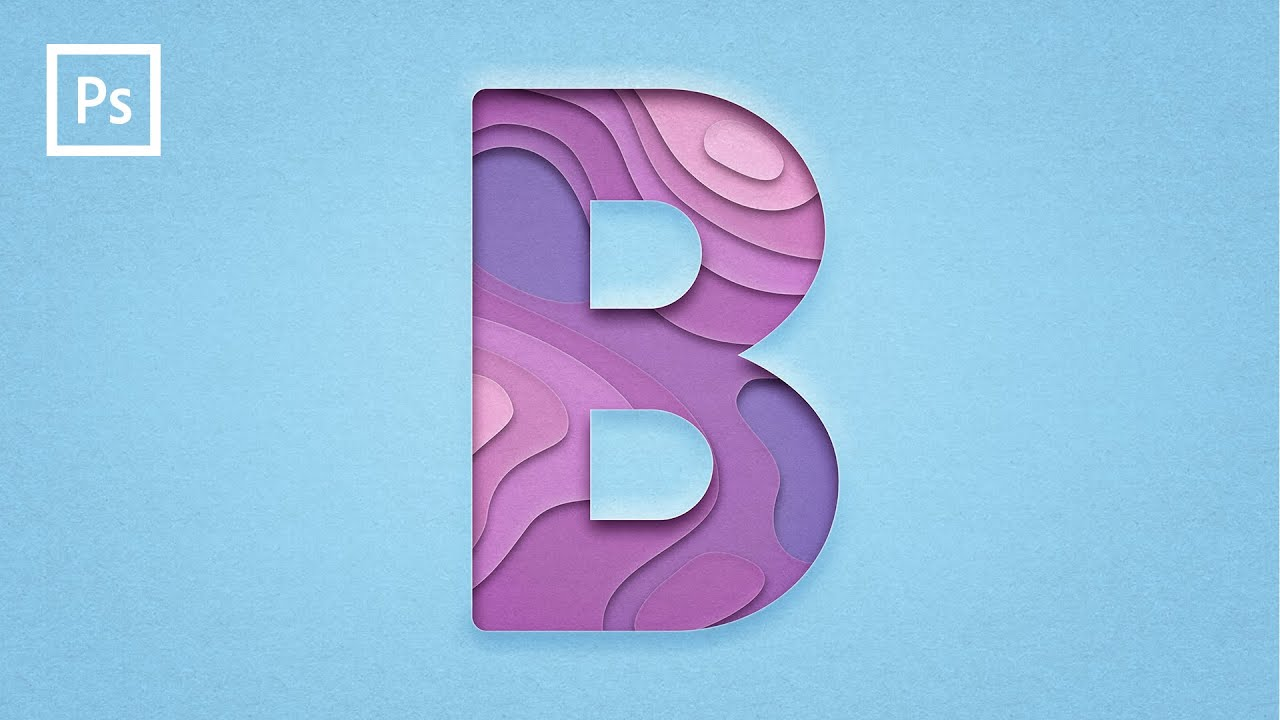 Photoshop Tutorials - Paper Layers Text Effect