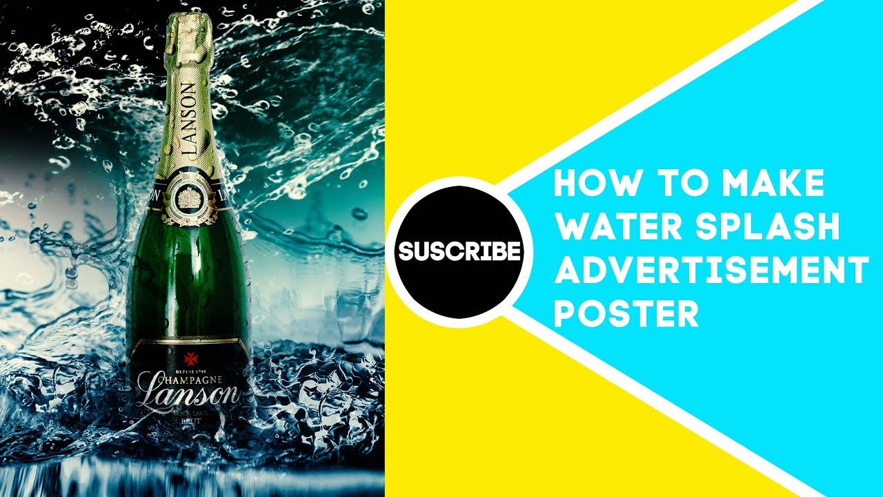 How To Make Advertising Poster In Adobe Photoshop tutorial