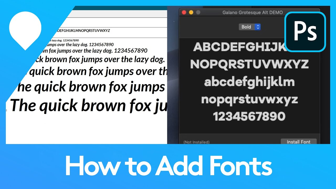 How to Add Fonts in Photoshop | Adobe Tutorial