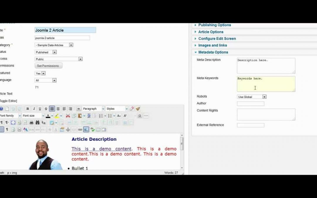 Joomla 2.5 Tutorial -  How To Optimize Your Articles for Search Engines- SEO Optimization Tips