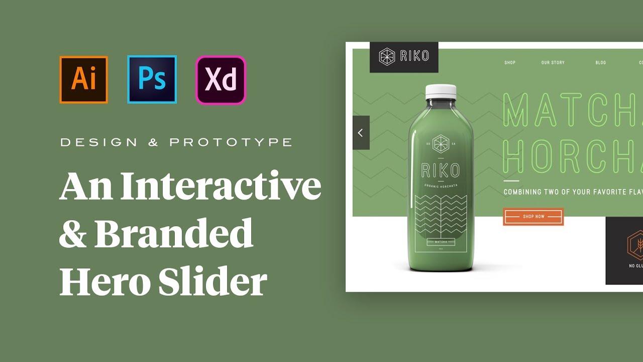Design a Branded Hero Slider with Adobe Photoshop, Illustrator and XD