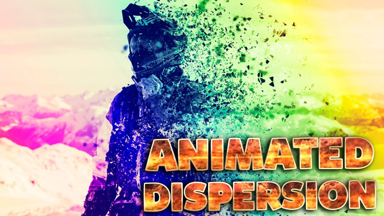 Animated Dispersion Effect in Adobe Photoshop CC 2019 ( Tutorial )