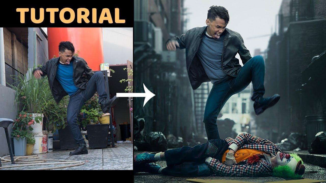 Cara Edit bareng Joker di Photoshop tutorial Srdesignart