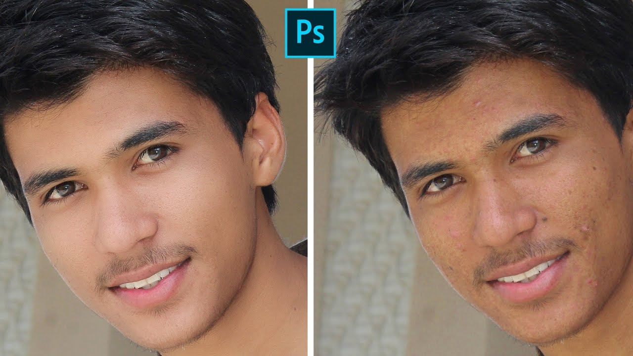 Face Retouching In One Click [With Real Texture] Adobe Photoshop Editing Tutorial