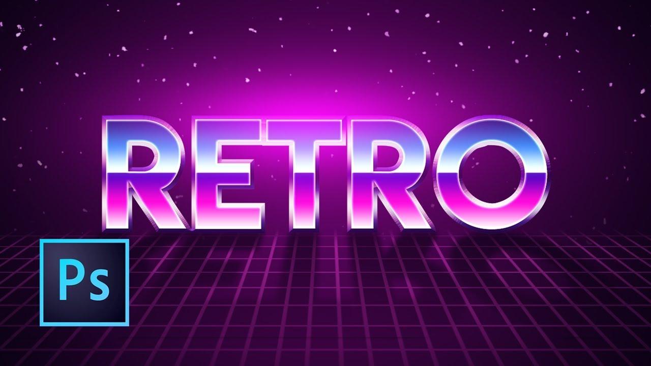 Tutorial Photoshop   Efecto Texto Estilo Retro de los 80's