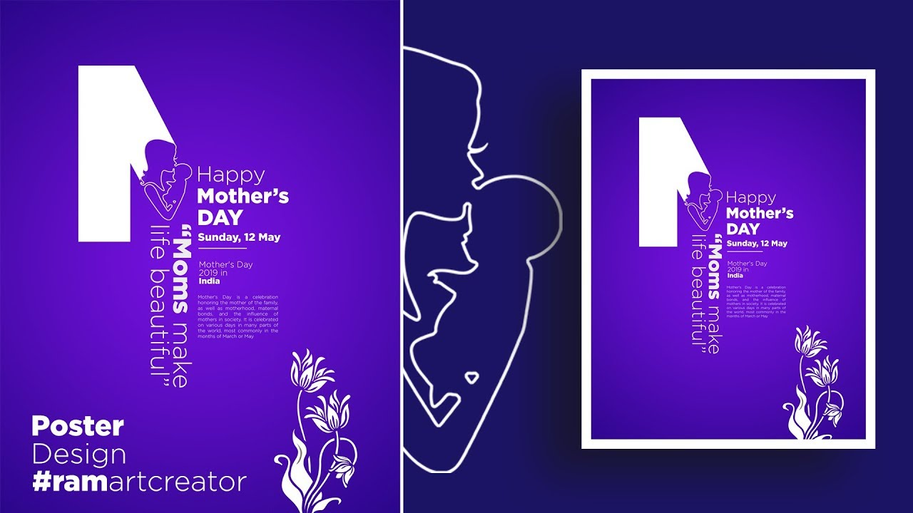 Mother's Day Poster Design in Adobe Photoshop CC 2019