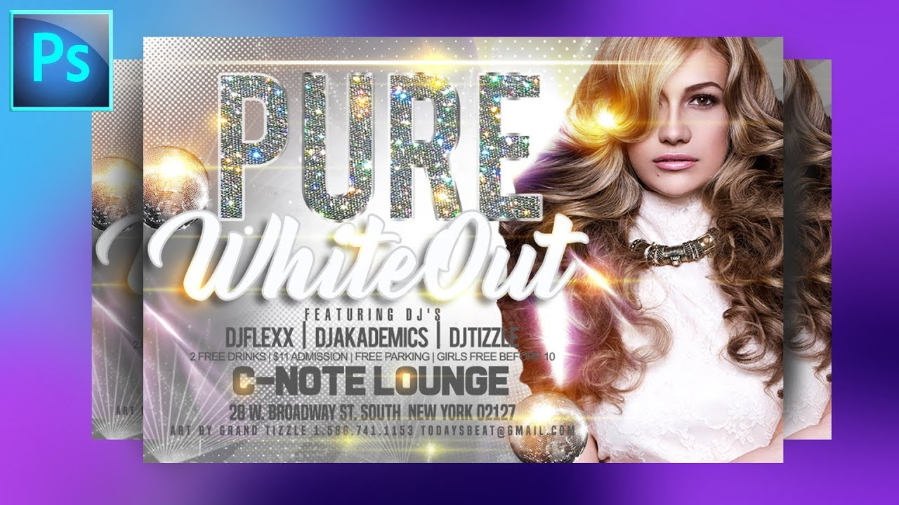Party Flyer Photoshop Tutorial