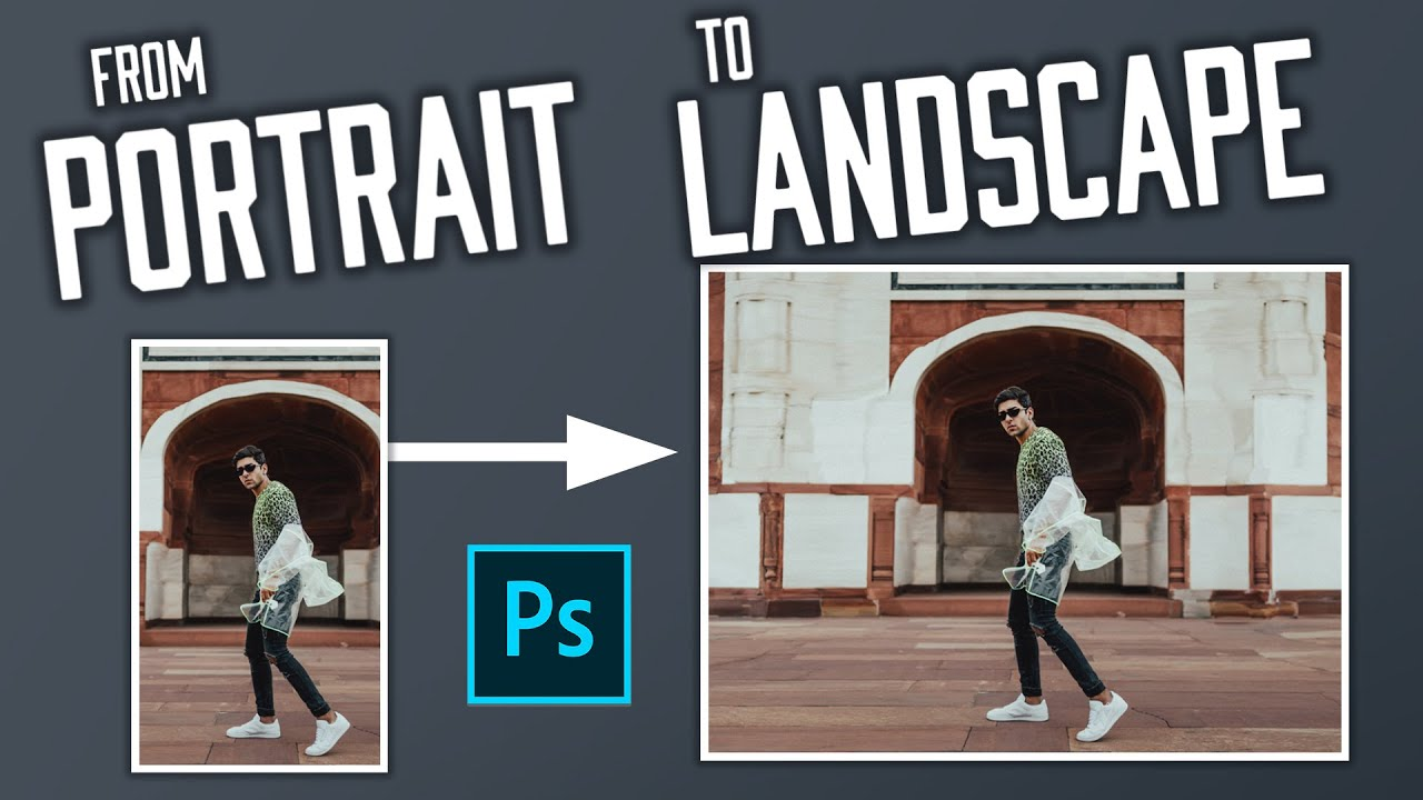 Photoshop Tutorial: Landscape Images from Portrait