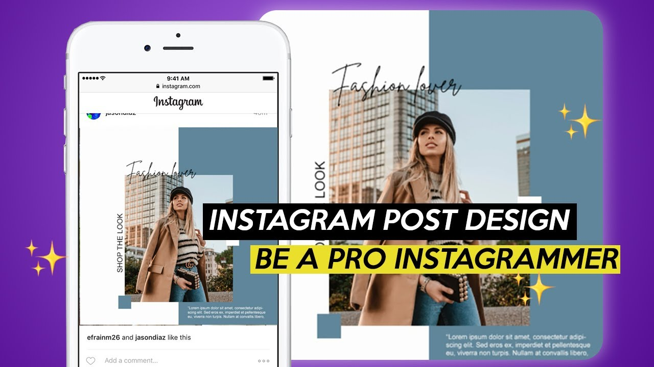 How to make an instagram post design 2019 (Photoshop Tutorial)