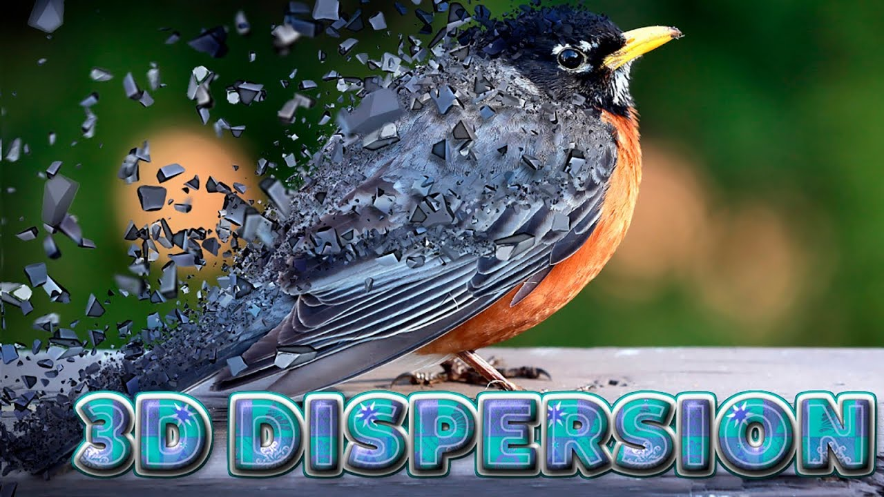 3D Dispersion Effect in Adobe Photoshop CC 2019 ( Tutorial )