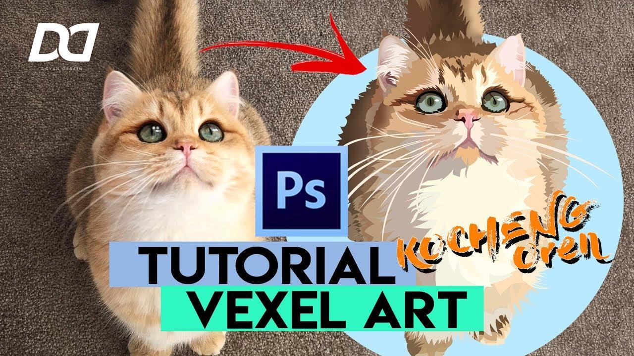 Tutorial Vexel Kucing || Adobe Photoshop
