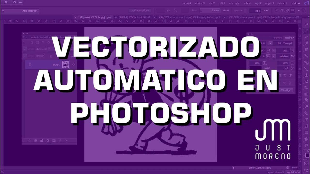 Vectorizar automáticamente con Photoshop | tutorial de Diseño Gráfico