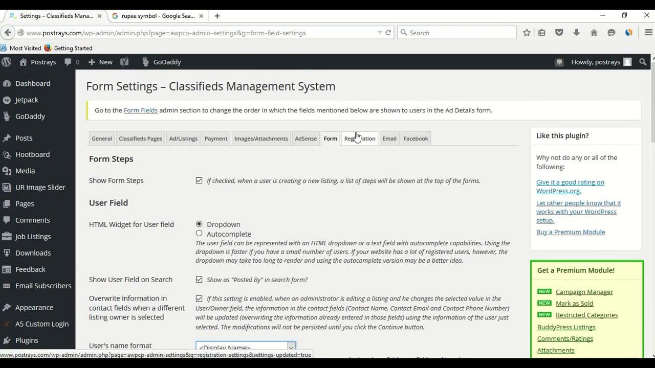 Best Free Classified Plugin For WordPress 2017   AWPCP Plugin Tutorial