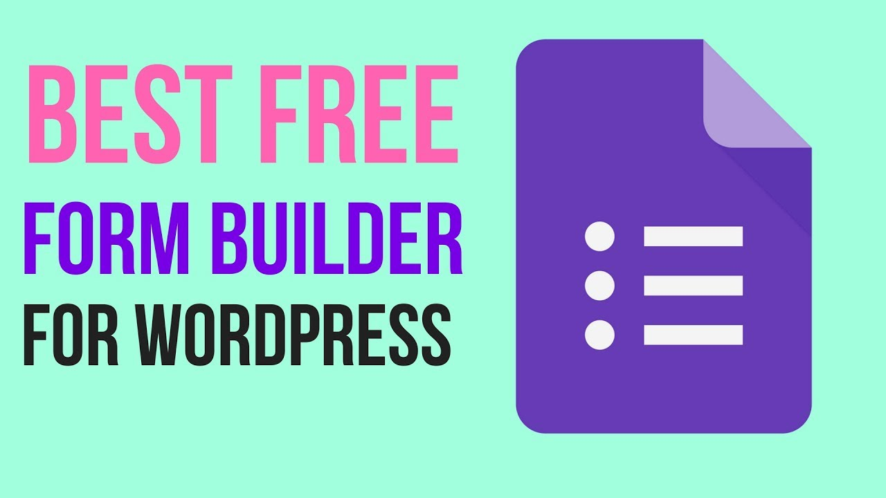 Best Free Form Builder Plugin for WordPress 2018 - HappyForms