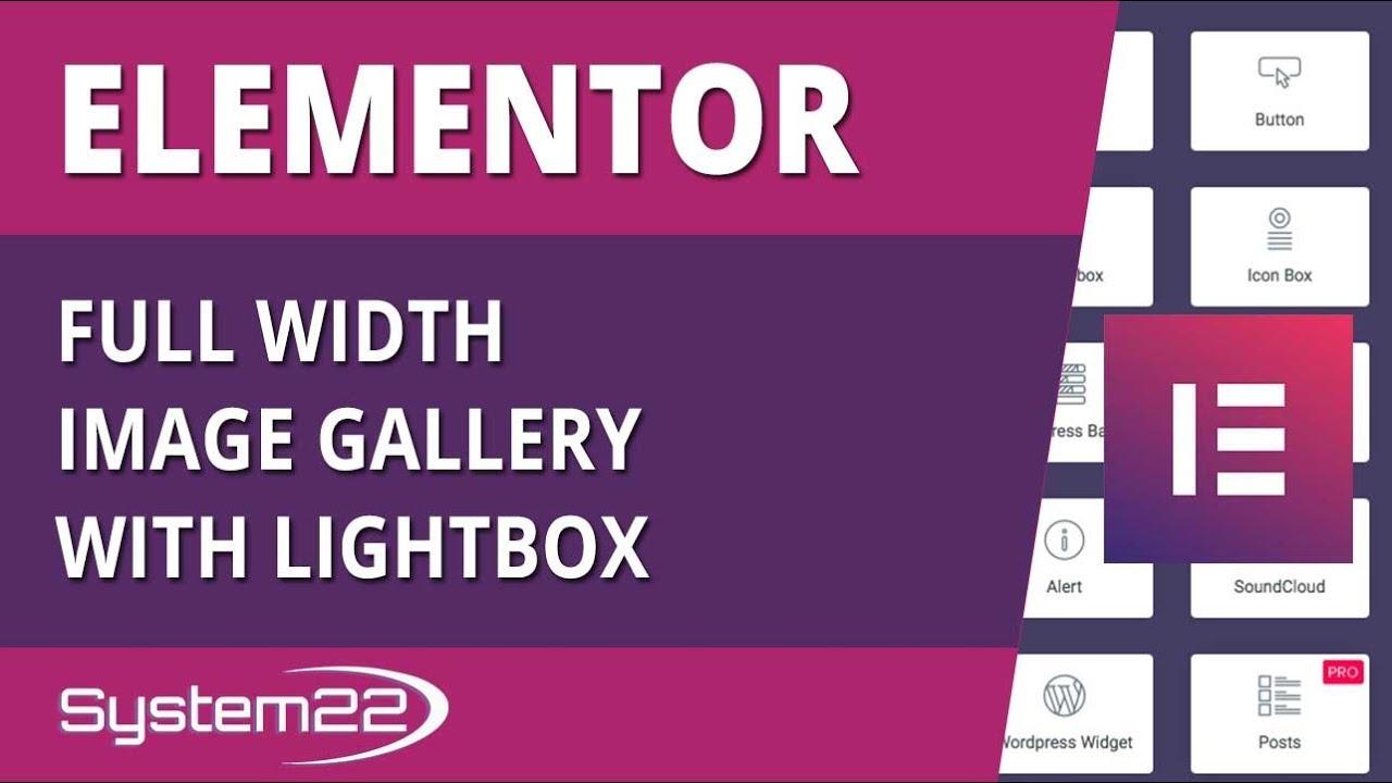 Elementor WordPress Plugin Full Width Image Gallery With Lightbox