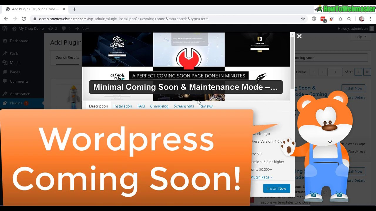 FREE Wordpress Plugin For Coming Soon & Under Construction Landing Page