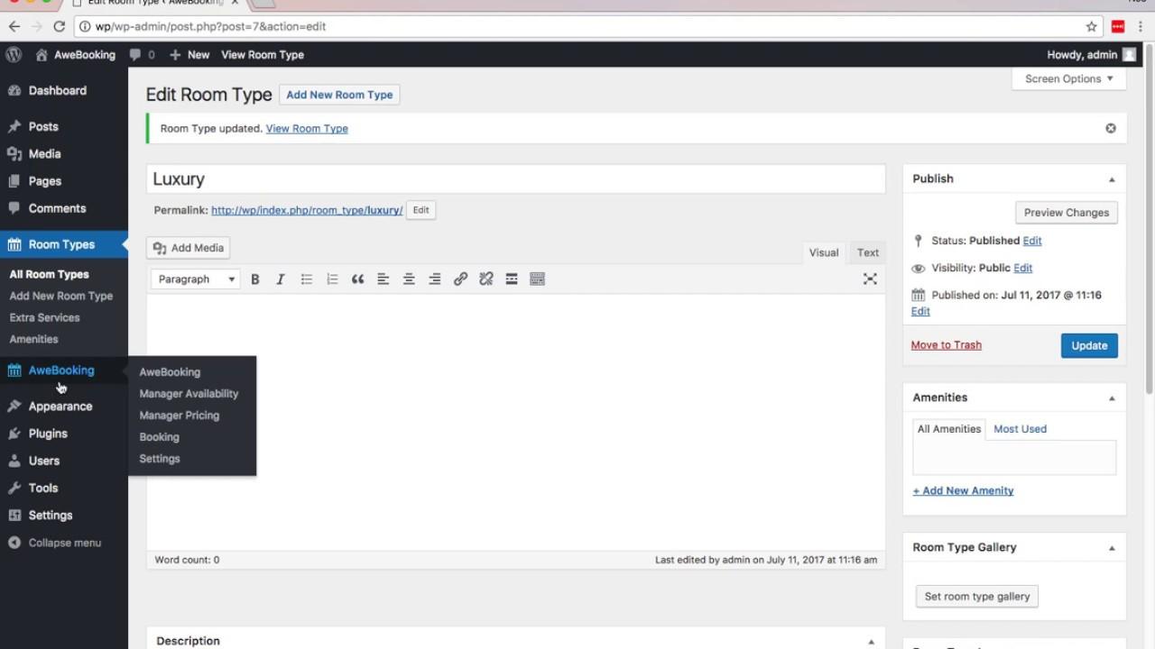 Free Online Hotel Booking WordPress Plugin - AweBooking 3.0