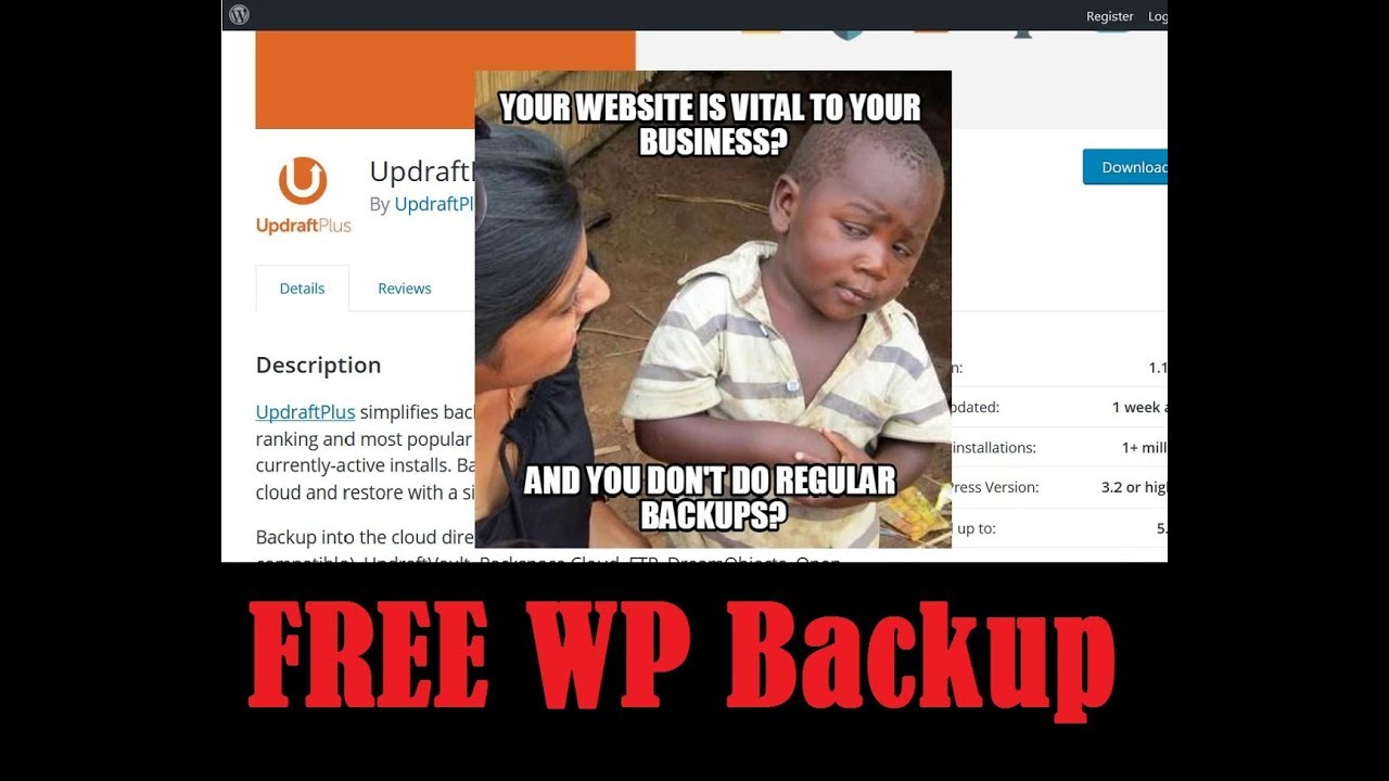 How to Backup Your Wordpress Website - Free WP Plugin Offsite Remote Backup