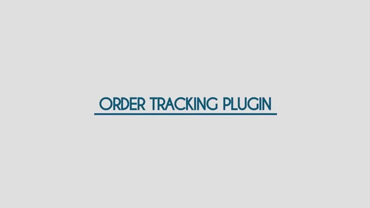 Order Tracking Plugin for WordPress