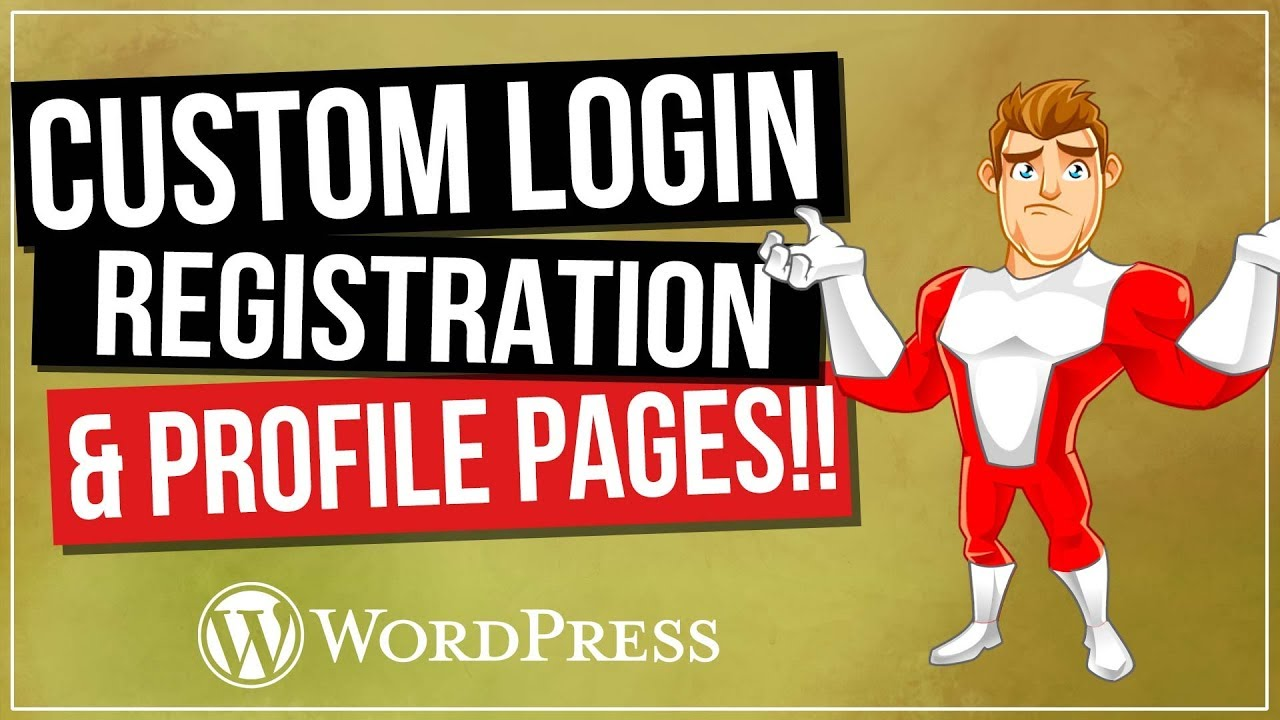 WordPress Login And Registration Pages | Customize Your Website for FREE