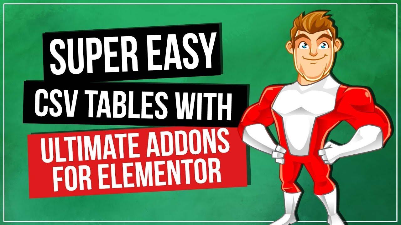 WordPress Tables Plugin - Ultimate Addons for Elementor