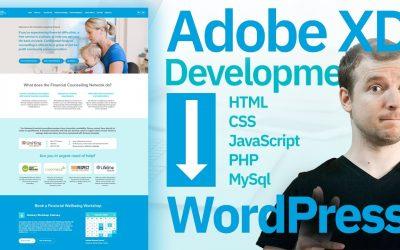 WordPress For Beginners – Adobe XD Design to WordPress Development Tutorial