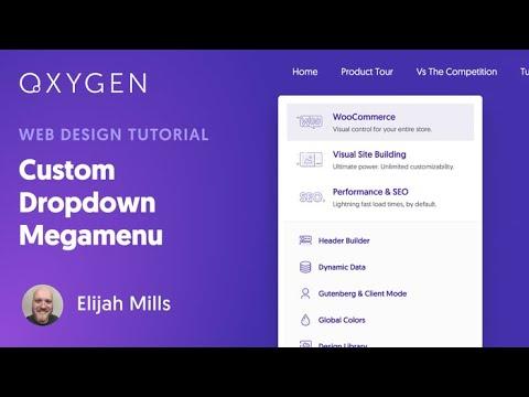 Custom Dropdown Megamenu In WordPress Using Oxygen