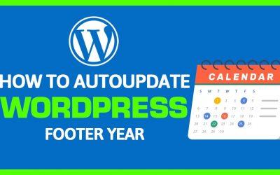 WordPress For Beginners – How To Change Copyright Date In WordPress Automatically for Beginners | Reliable Webguy